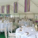12m with ribbon chandeliers
