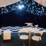 Chequer board dance floor