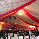 Pink sash ceiling