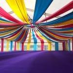 Circus tent decoration